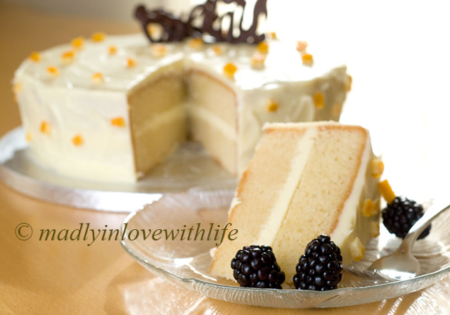 Orange almond layer cake recipe