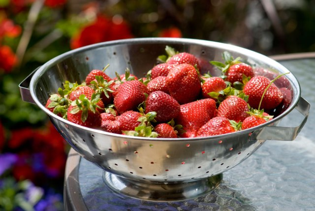 Summer_Strawberries_Collander